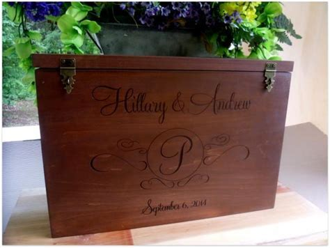 Wedding Wine Box And Card Box Custom Made And Personalized
