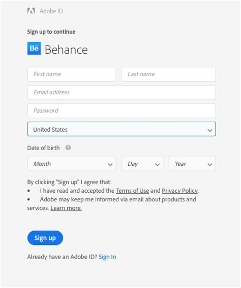behance login how do i sign up for behance behance helpcenter