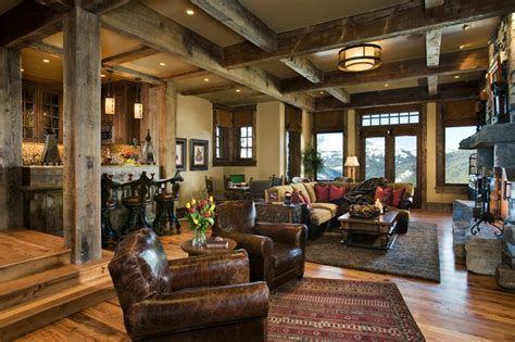 rustic family room cedarview residence rustic family room other metro
