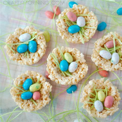 rice krispie nests easter treats crafty morning