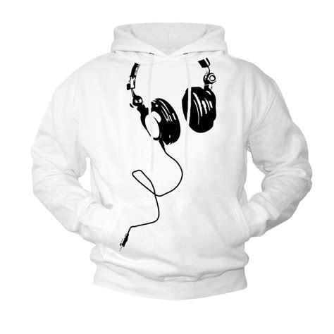Hoodie The Headphone hoodie sweatshirt headphones dj pullover hooded