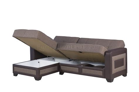 Sofa Elit elit form sectional sofa bed in brown fabric by casamode
