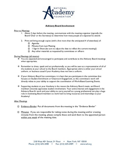 advisory board appointment letter template implementing an advisory board internship program at your