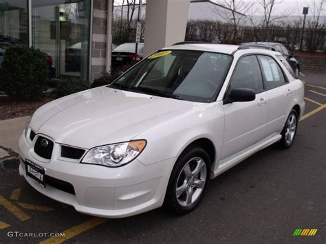 white subaru wagon 2007 satin white pearl subaru impreza 2 5i wagon 21712658