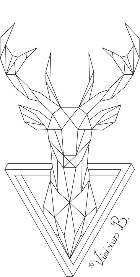 tattoo geometric png geometric deer 1 by mrdrawing on deviantart