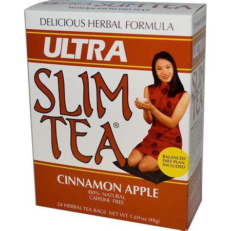Ultra Slimming Detox Tea by Hobe Labs Ultra Slim Tea Cinnamon Apple Caffeine Free