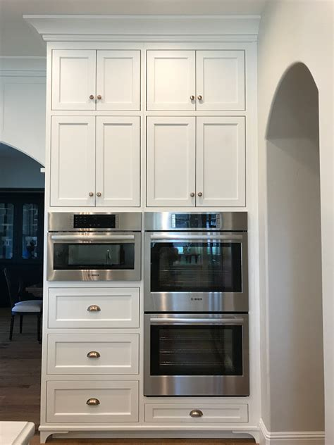 Oven Cabinet Design by New Classic White Kitchen Renovation Inspiration Home