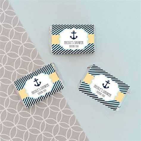 Personalized Bars For Baby Shower by Personalized Nautical Baby Shower Mini Bar Wrappers