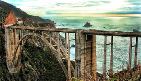 bridge bid back road travels the coast road from bixby bridge to
