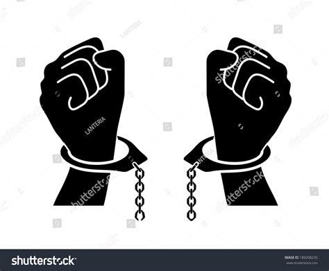 cadenas rotas animadas chains broken off by hands stock vector 189208235