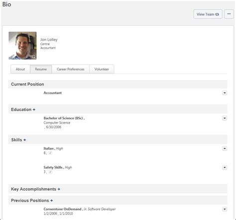 Resume Overview by Bio Resume Overview