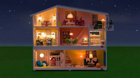 lundby smaland doll house   remote control lighting