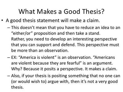 what makes up a thesis statement what makes a thesisstatement