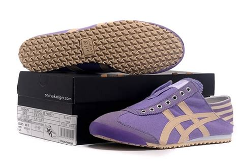Po Onitsuka Tiger Mexico 66 Paraty Slip On Canvas Black Purple purple beige onitsuka tiger mexico 66 slip on shoes