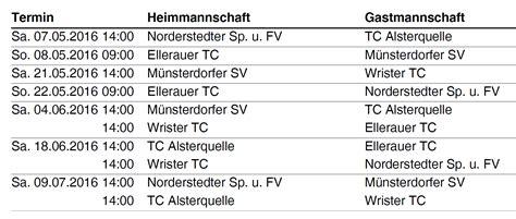 März Kalender 2016 Spielpl 195 164 Ne Sommer 2016 M 195 188 Nsterdorfer Sv Tennis