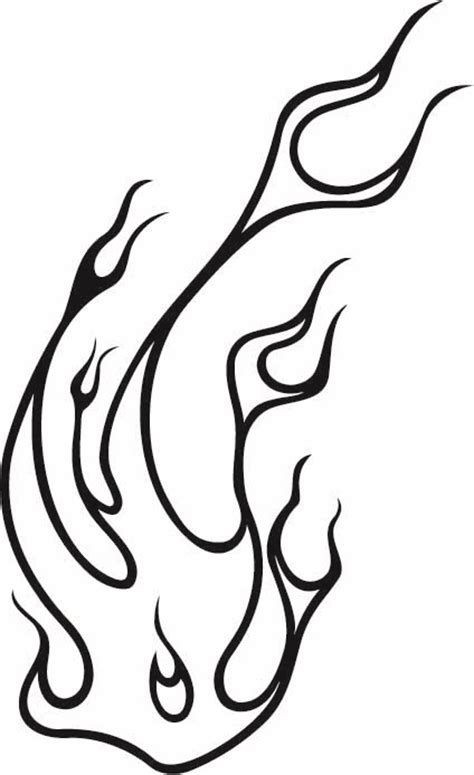 line drawing flames clipart best
