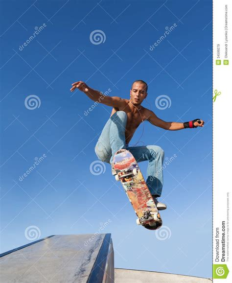skate volante boy flying on a skateboard royalty free stock images