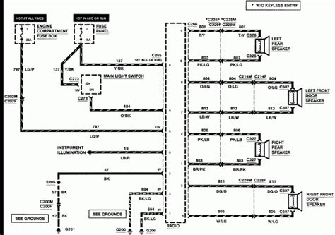 1997 lincoln town car stereo wiring diagram 1998 lincoln