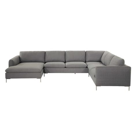 light grey corner sofa 8 seater fabric corner sofa in light grey city maisons