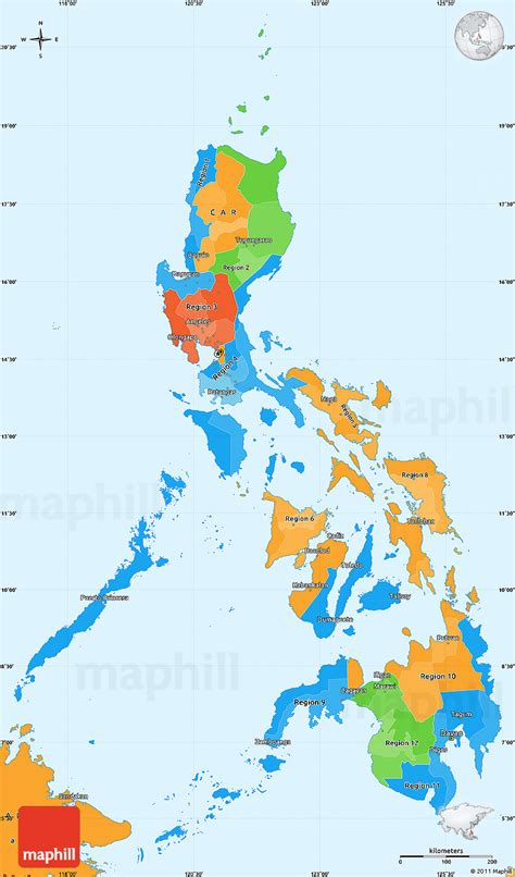 political simple map  philippines