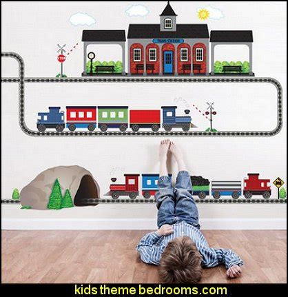 Thomas Tank Engine Wall Stickers train bedroom decorating ideas transportation theme beds