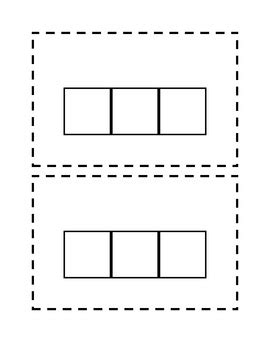 elkonin boxes template elkonin sound box template 1st grade