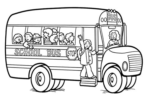 Free Printable Coloring Pages School Bus | free printable school bus coloring pages for kids