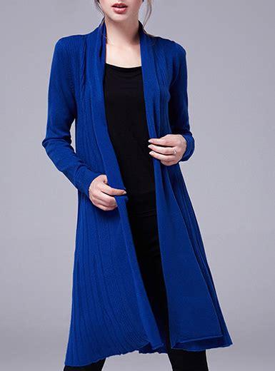 Daster Dress Midi Line s midi length duster royal blue cuffed sleeves
