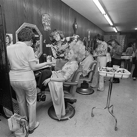 hair dresser s day fun photos juxtapose family life in long island with 1970s
