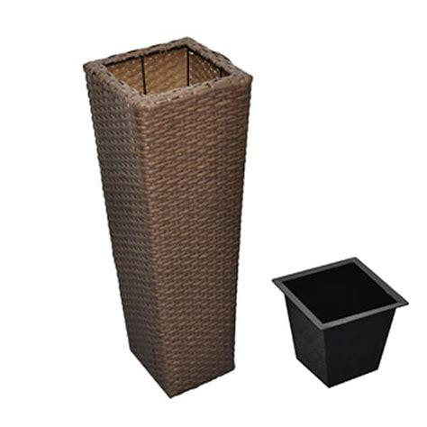 vasi in rattan articoli per vasi fioriere moderni in rattan caff 232 set da