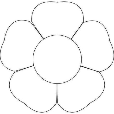 5 petal flower template printable templatezet