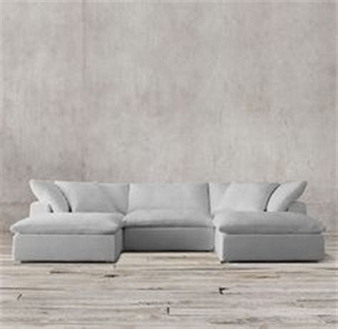 restoration hardware cloud sofa knock soho tufted upholstered u chaise sectional sectionals