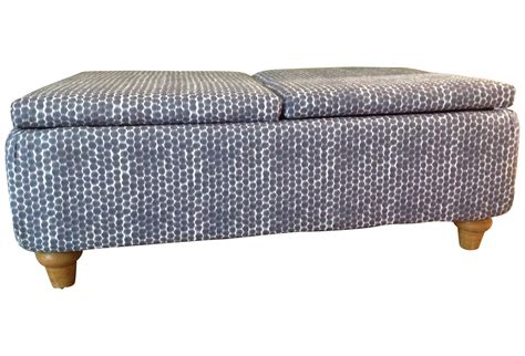 ikat ottoman coffee table navy ikat storage ottoman chairish