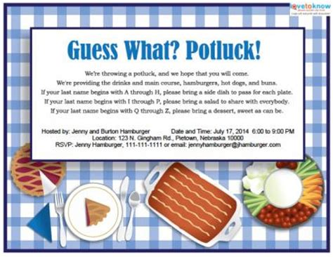 potluck invitation template search results for template for a work potluck