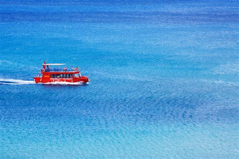 on a boat at sea red boat at sea free stock photo public domain pictures