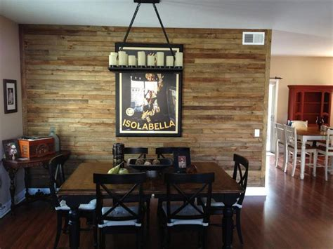 Wood Accent Wall In Dining Room Diy Wood Pallet Wall Ideas And Paneling