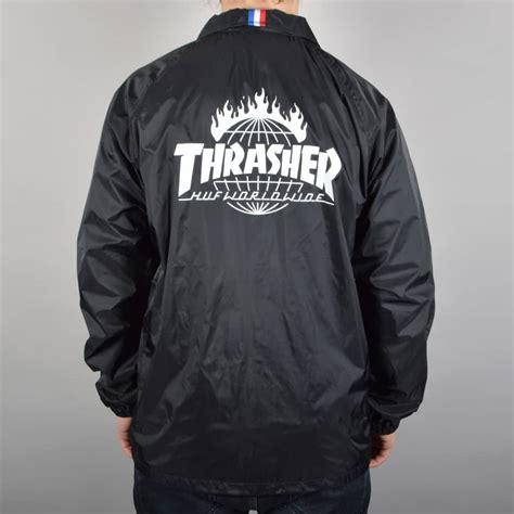 Huf X Huf huf x thrasher tds coach s jacket black skate clothing