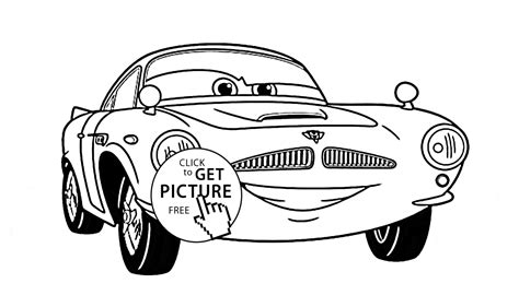 cars 2 finn mcmissile coloring pages finn mcmissile of disney movie cars 2 coloring page for