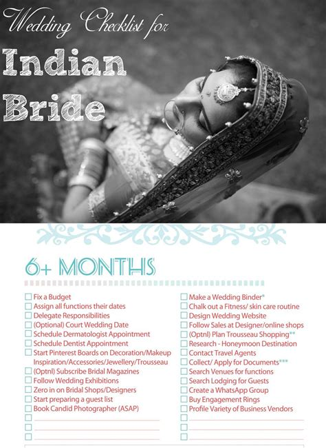 Wedding Checklist Indian by Indian Wedding Checklist For The Indian Bridal