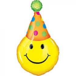 Happy birthday smiley face supershape