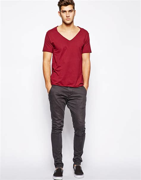 Mens Shirt Izzue izzue v neck t shirt with edge in for lyst