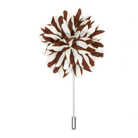 Lapel Pin Pin Tuspin Bros Brown Striped Flower bold lapel pins accentuate that suit touch of modern