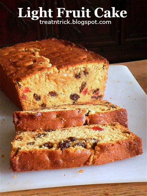 Treat Trick Light Fruit Cake Light Cake Recipe