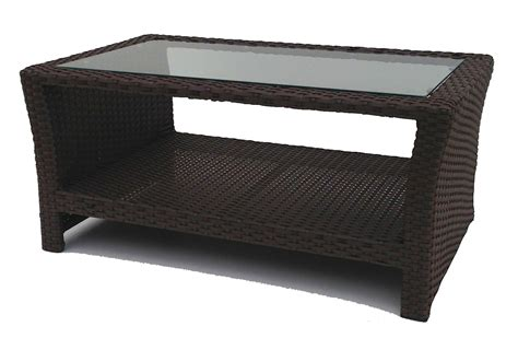 Outdoor Wicker Coffee Table Outdoor Wicker Inset Coffee Table