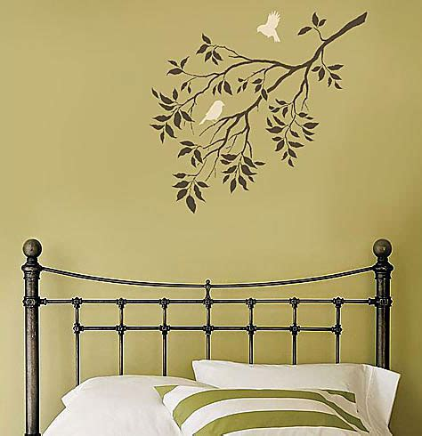 wall stencils templates birds on a branch wall stencil wallpaper free