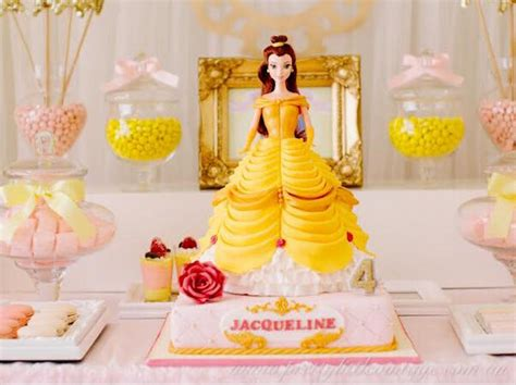Kara's Party Ideas Princess Belle Inspired Beauty and the Beast Birthday Party   Kara's Party Ideas