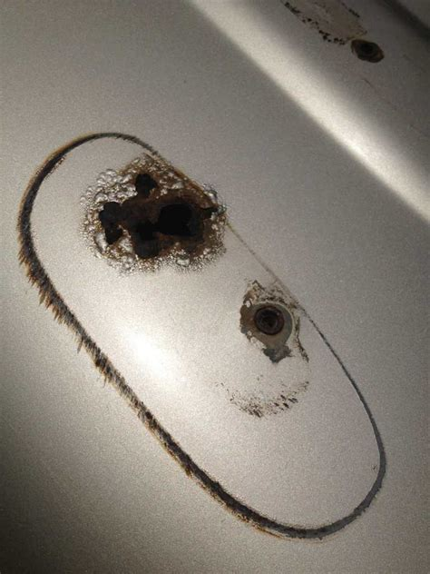 steel bathtub repair roof rack rust hole body shop or bondo patch ih8mud forum