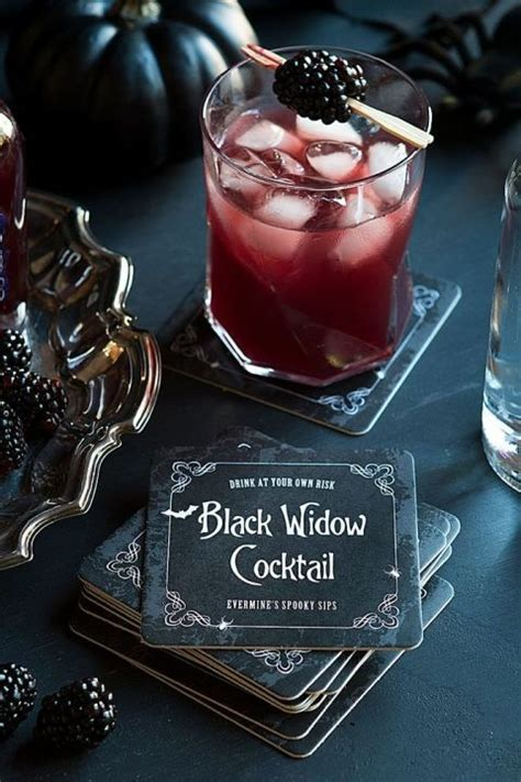 black widow martini 26 killer cocktails to serve at your halloween party for
