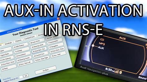 How to enable AUX IN in Audi RNS E (A3 A4 A6 TT R8 Exeo Gallardo) VAG COM VCDS VAS YouTube