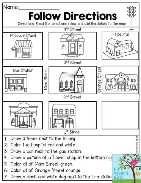 map activity follow directions read the directions and add the details